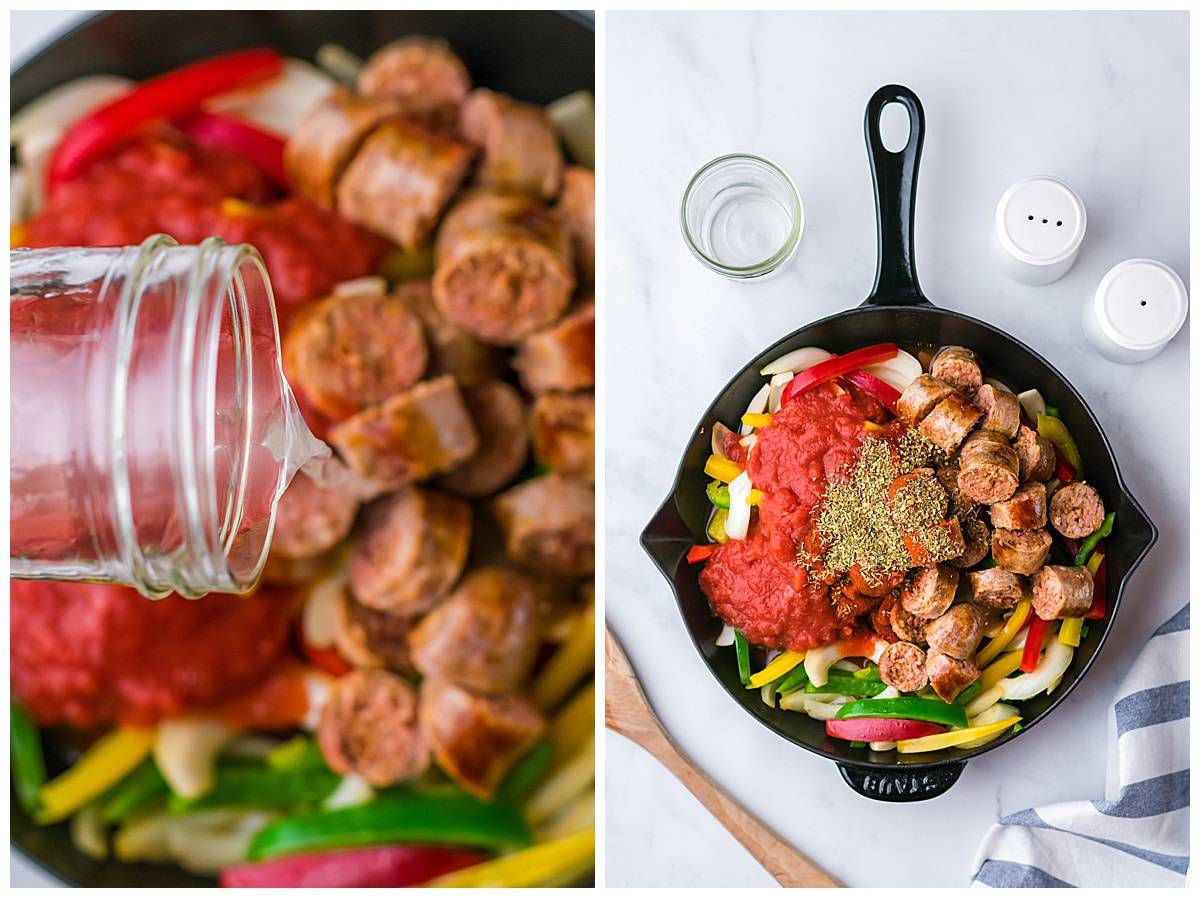 sausage and peppers skillet
