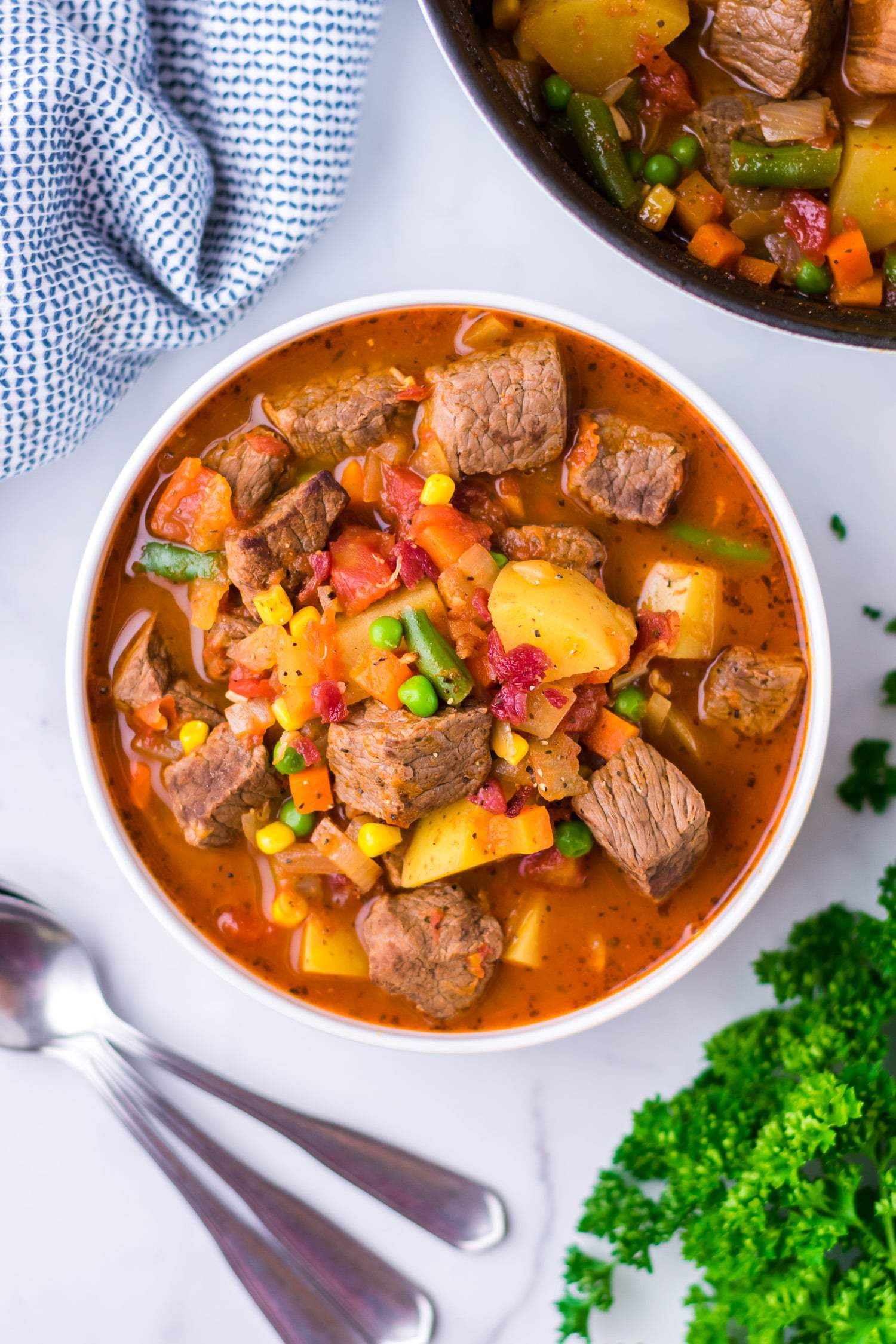 easy vegetable beef soup