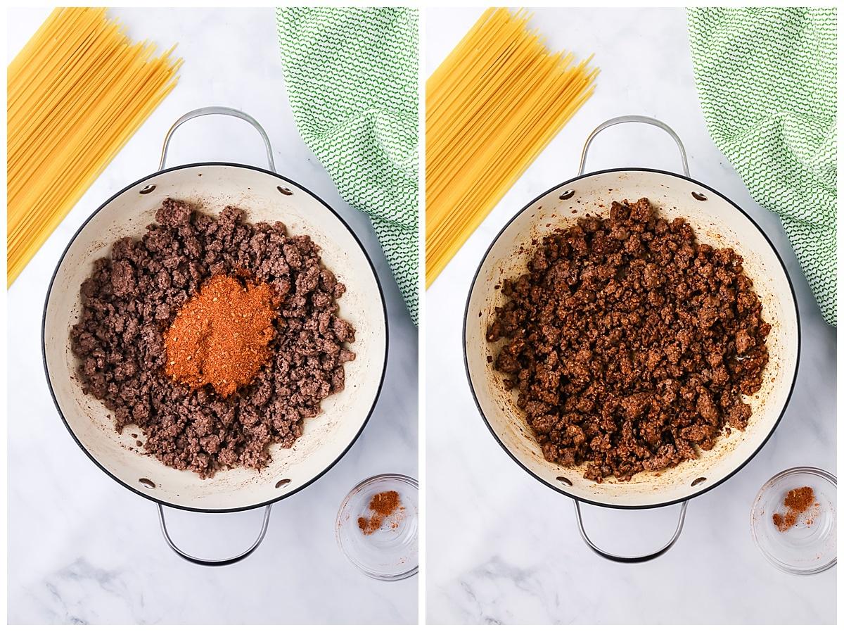 how to cook taco spaghetti
