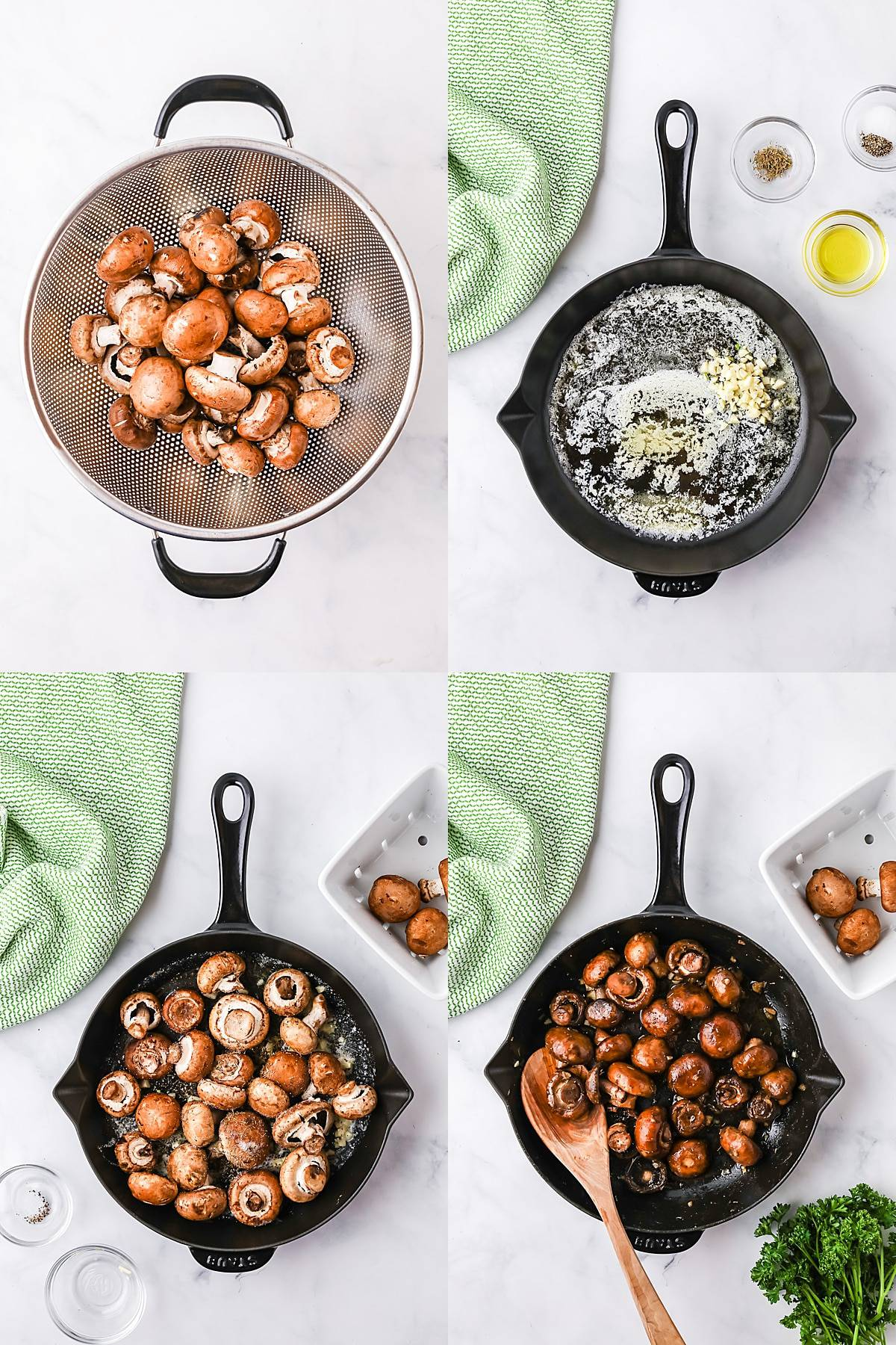 how to make garlic butter mushrooms