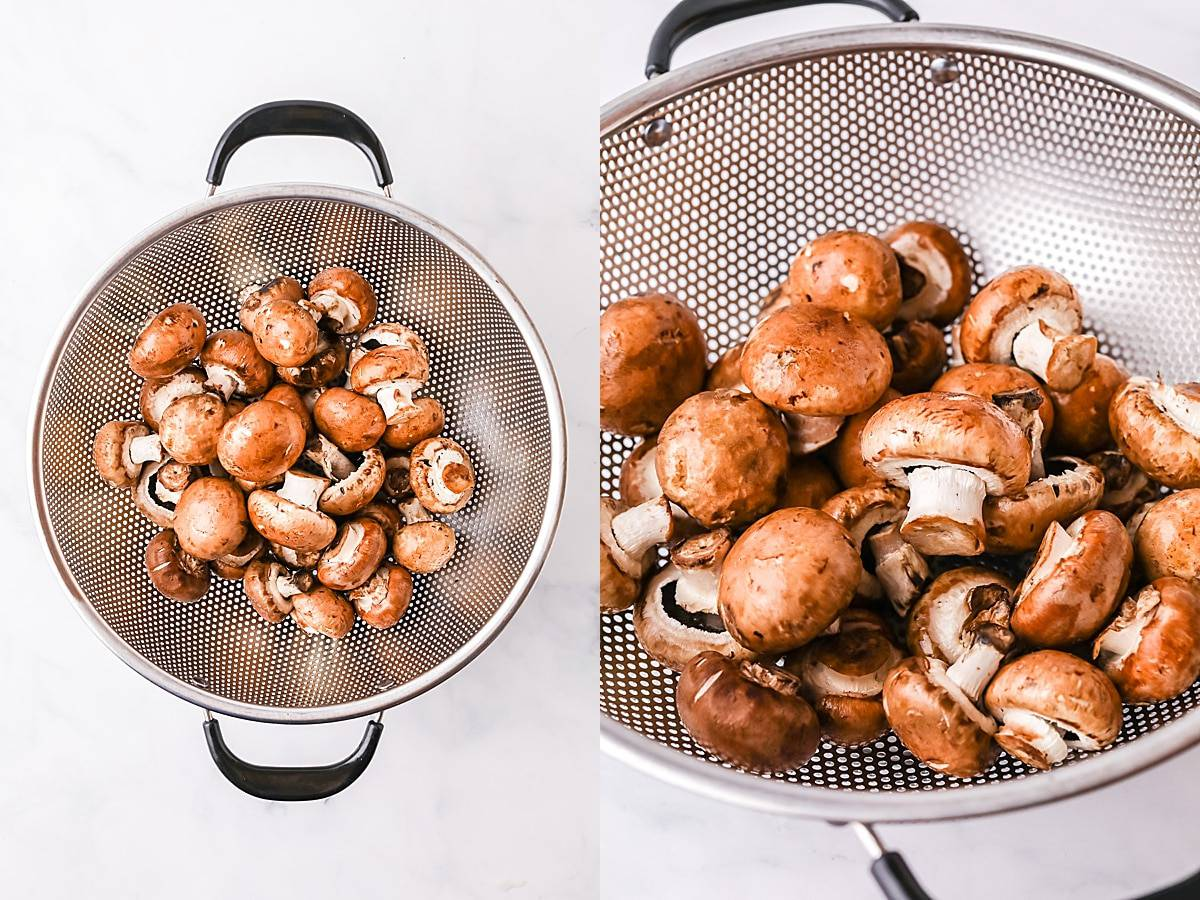 how to wash mushrooms for cooking