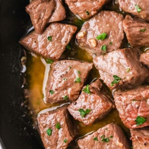 garlic butter steak bites
