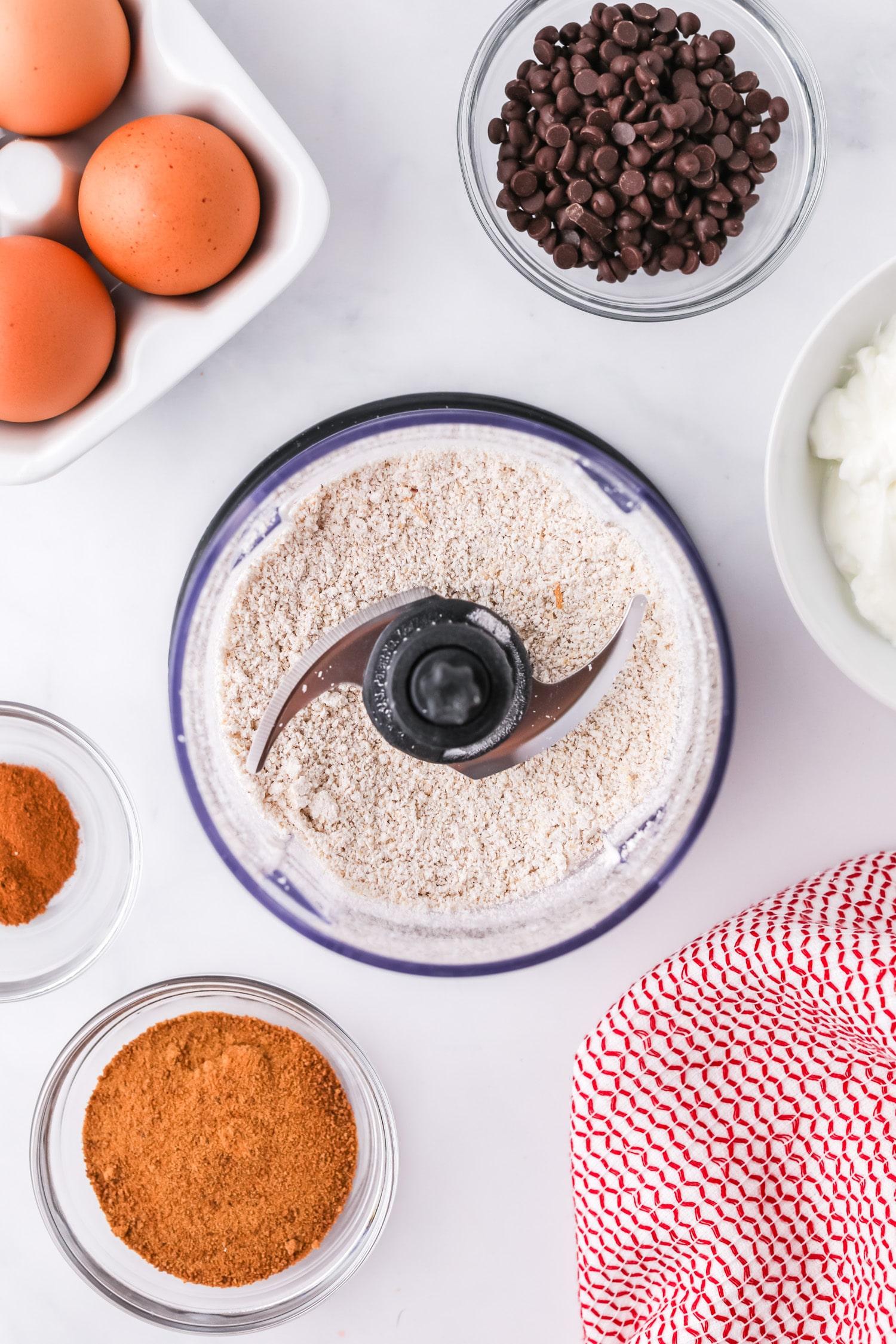blending oats for panckes