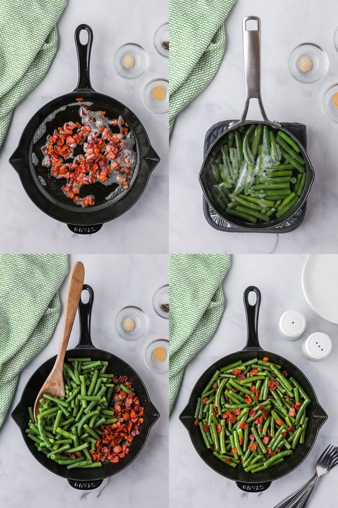 how to make green beans with bacon