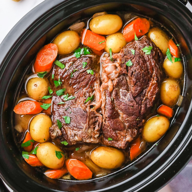 easy slow cooker pot roast