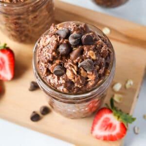 chocolate overnight oats