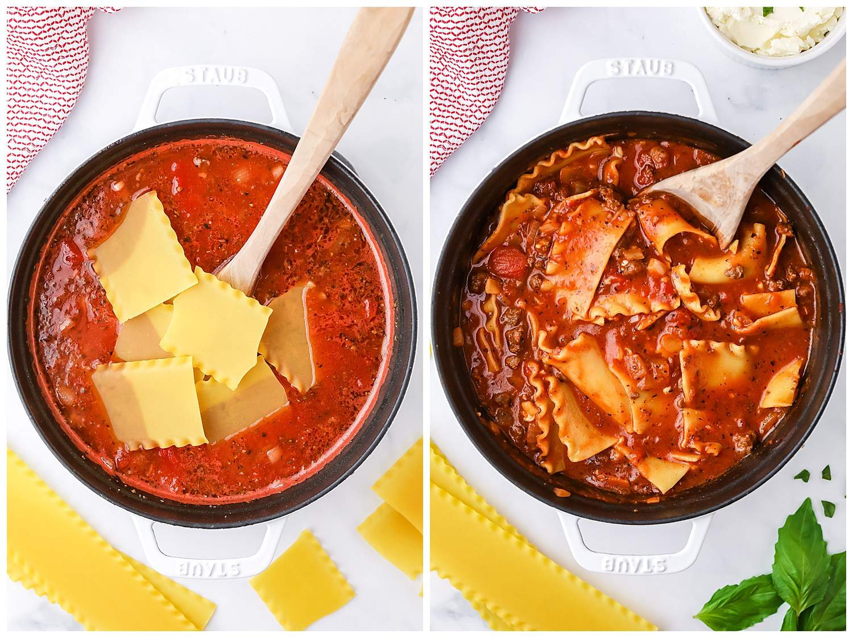 how to make lasagna soup