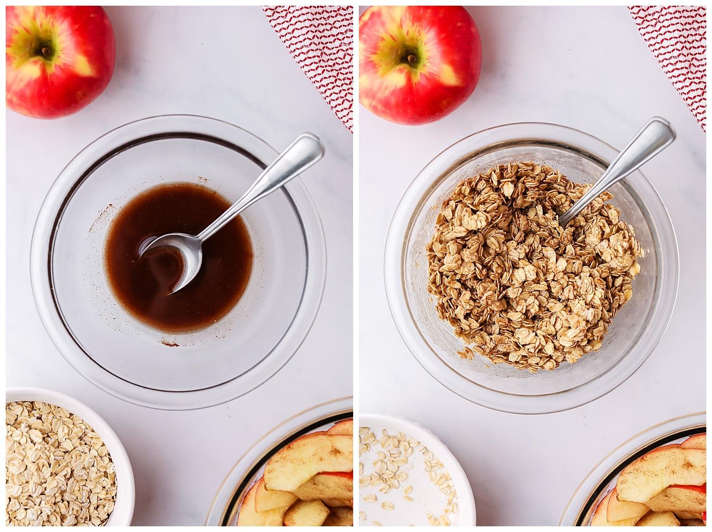 apple crisp oat topping