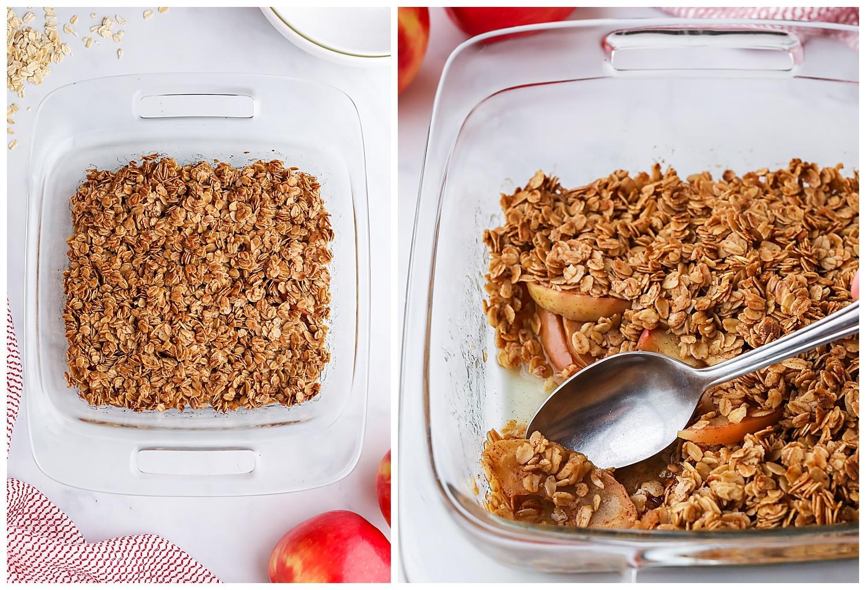 baked healthy apple crisp