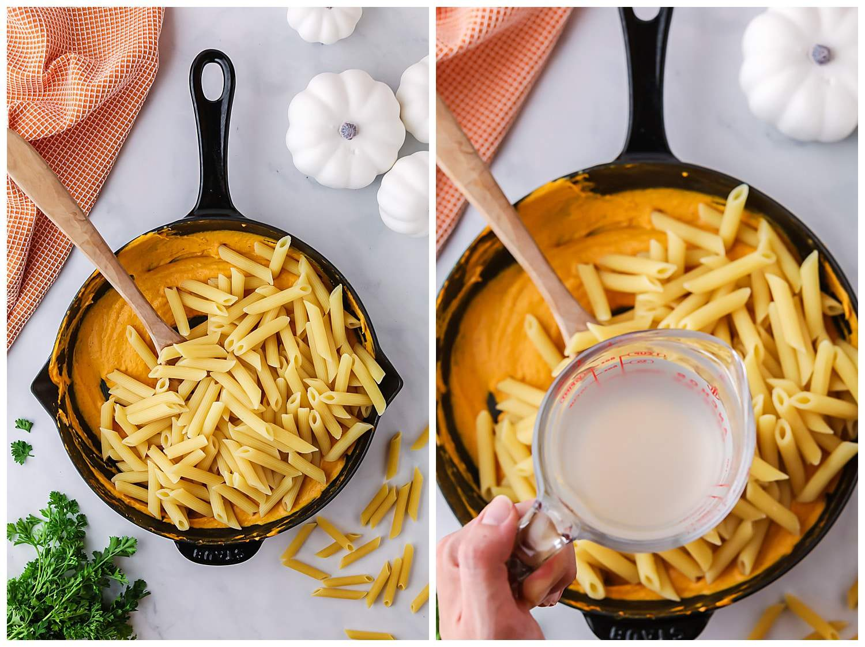 how to make pumpkin pasta