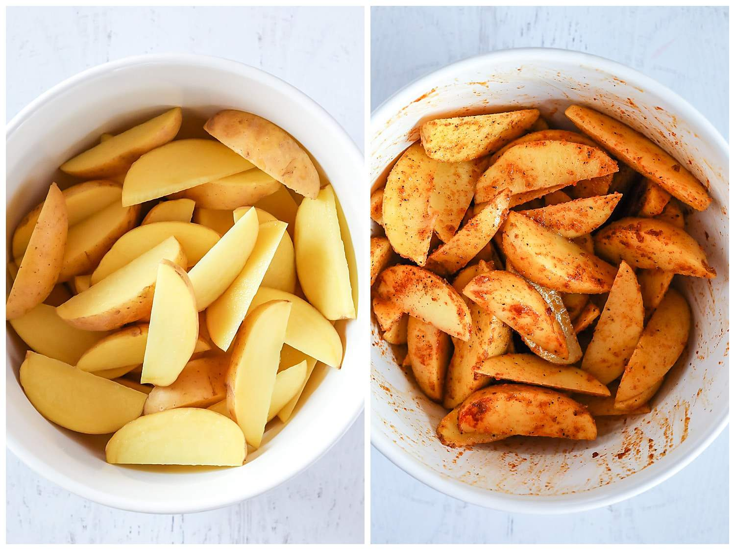 how to slice potatoes for wedges