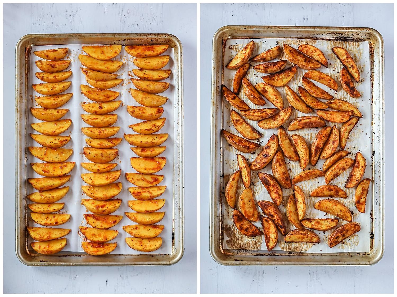 how to make potato wedges