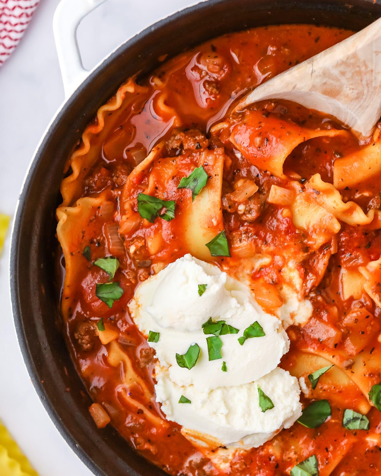 easy lasagna soup