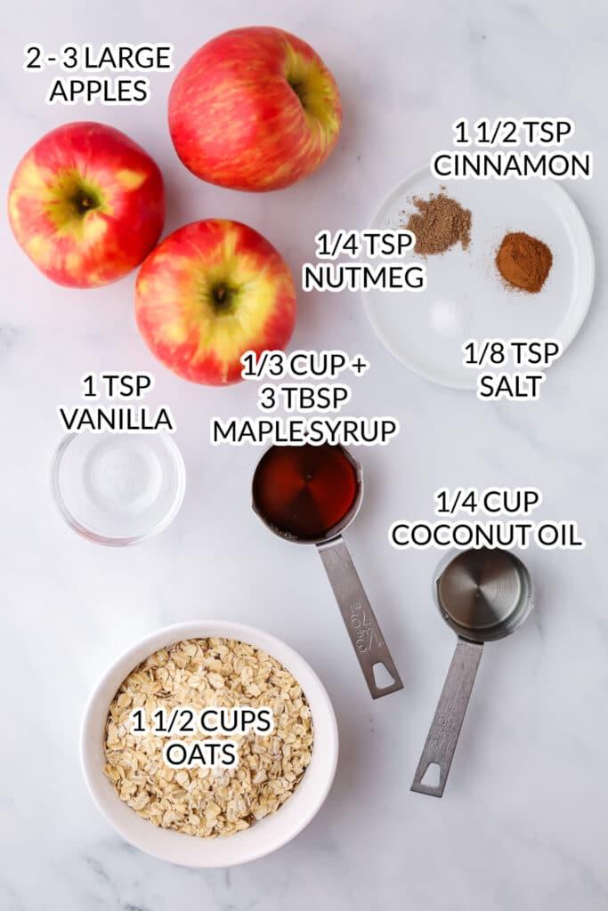 healthy apple crisp ingredients