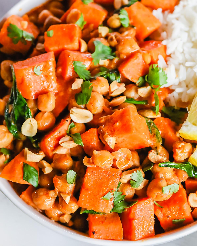 sweet potato chickpea curry