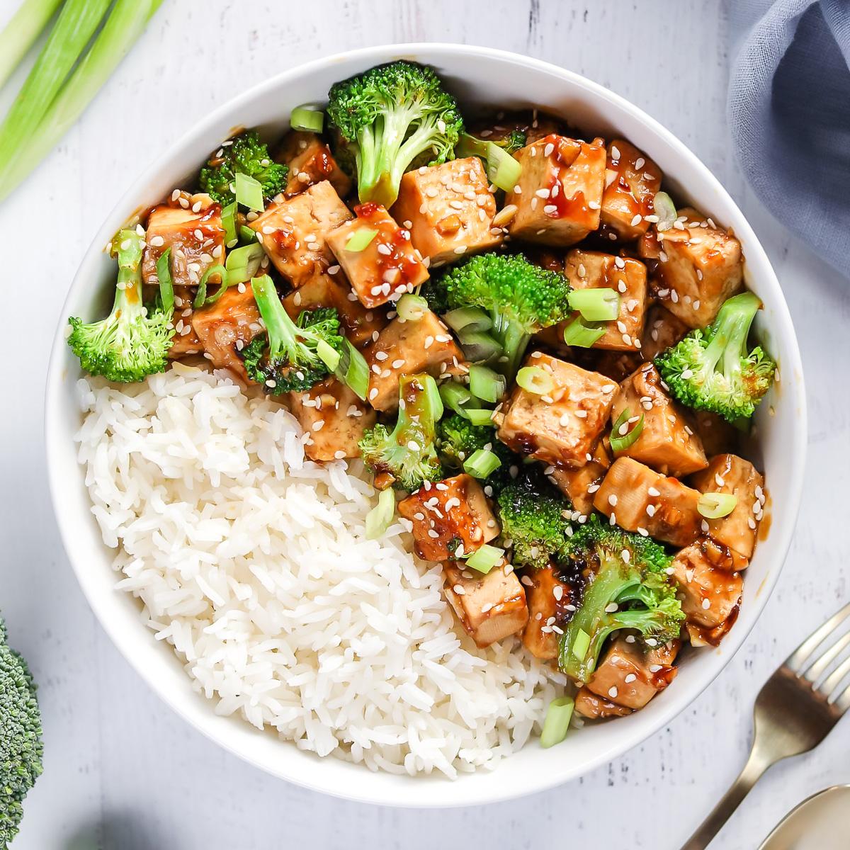 teriyaki tofu stir fry