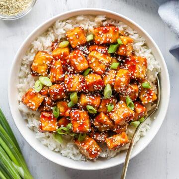 pan fried sesame tofu