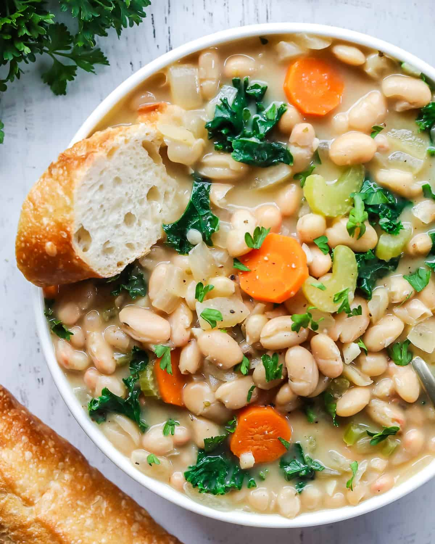 vegan white bean soup